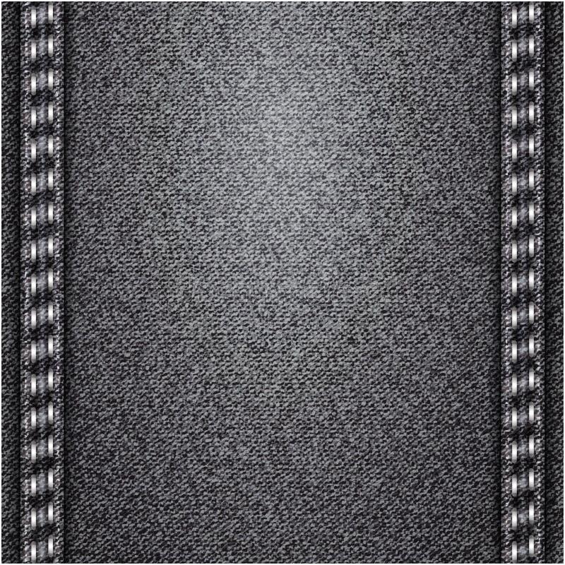 Cajgu tło. Wektorowa tekstura. royalty ilustracja