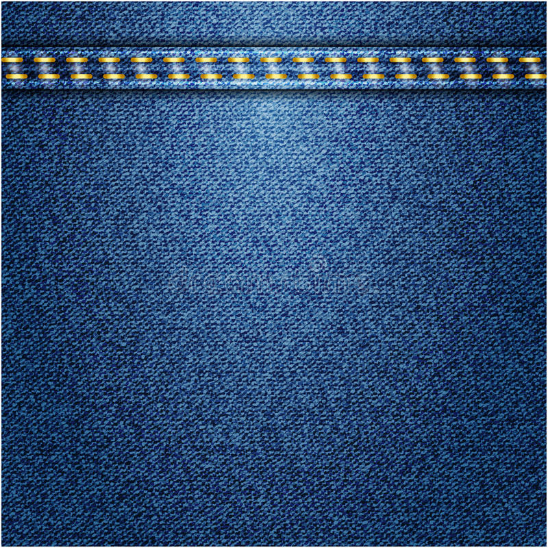 Cajgu tło. Wektorowa tekstura. ilustracji
