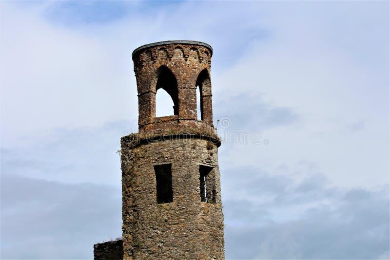 Cajolerie, liège du comté/Irlande - 14 août 2018 : Château de cajolerie construit au 15ème siècle par le roi de Munster image libre de droits