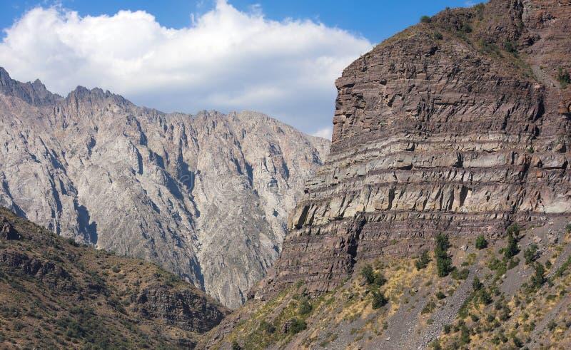 Cajon del迈波火山-智利- XXIII - 库存照片