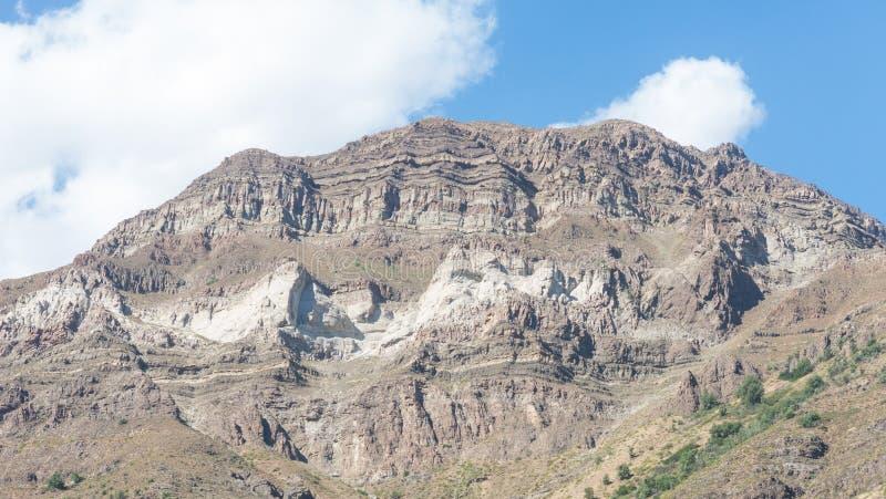 Cajon del Maipo Barranco de Maipo, un barranco situado en los Andes Ne foto de archivo