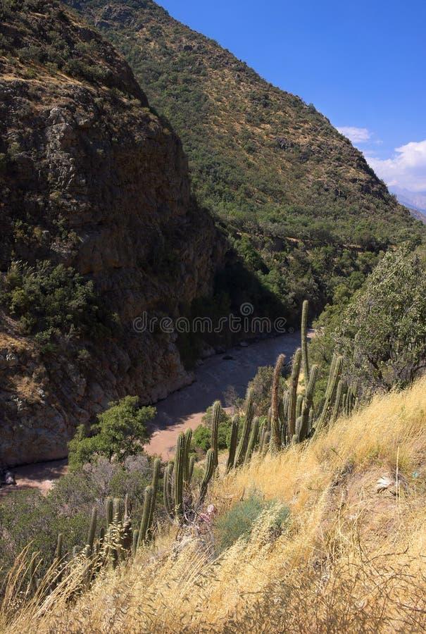 Cajon del Maipo - barranco - I - fotos de archivo