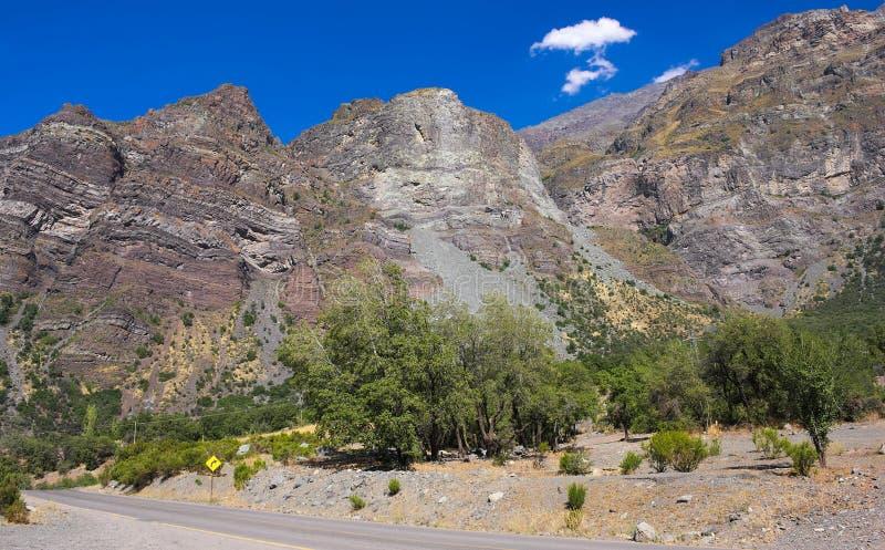 Cajon del Maipo - barranco - VIII - Chile foto de archivo libre de regalías