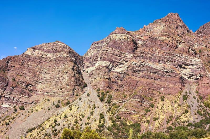 Cajon del Maipo - barranco - XII - Chile fotografía de archivo