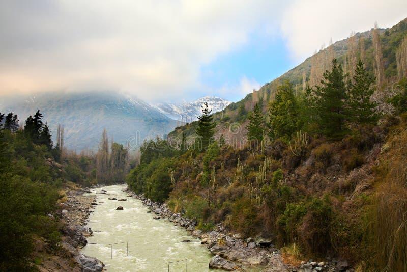 Cajon Del Maipo, Chile lizenzfreie stockfotos
