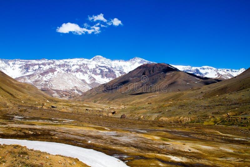Cajon del Maipo, Chile imagenes de archivo