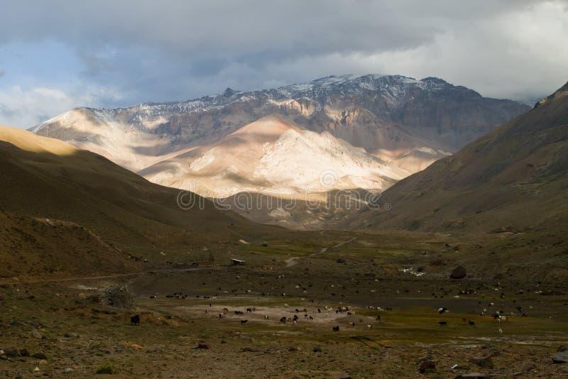 Cajon del Maipo, Chile fotos de archivo