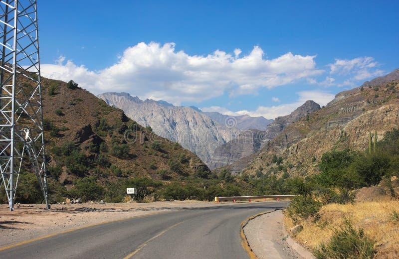 Cajon del Maipo - en el camino - II - Chile foto de archivo libre de regalías