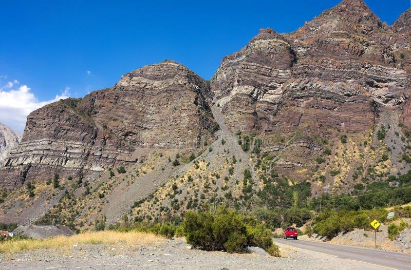 Cajon del Maipo - en el camino - III - Chile fotos de archivo