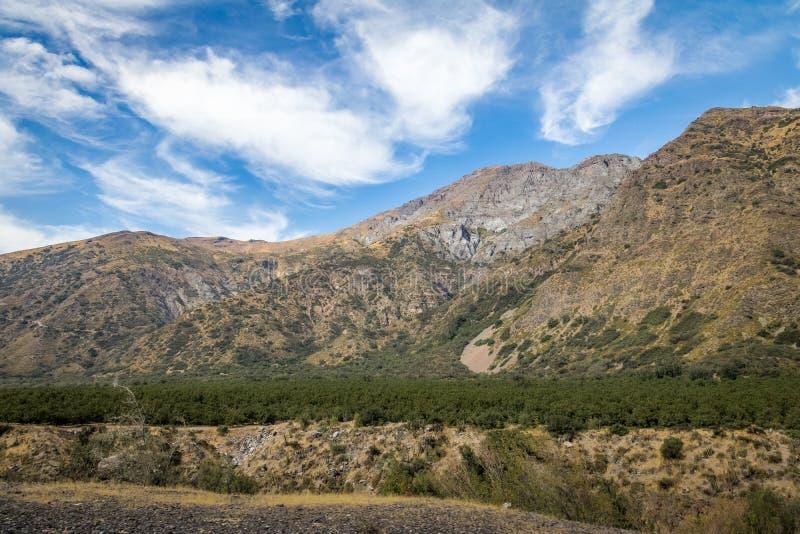 Cajon Del Maipo Jar krajobraz - Chile obraz royalty free