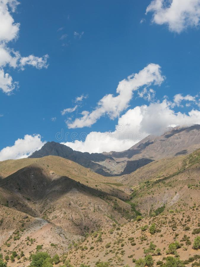 Cajon Del Maipo Maipo jar, jar lokalizować w Andes Ne obraz stock
