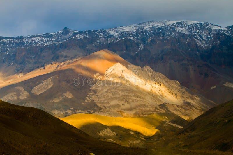 Cajon del Maipo, o Chile fotografia de stock