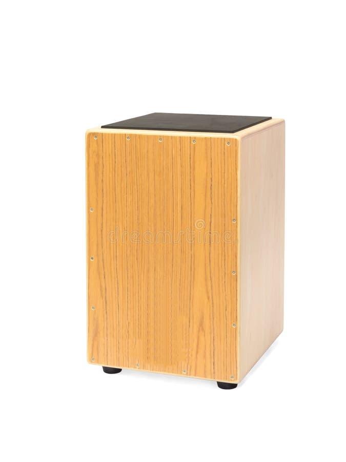 Cajon hand drum. Isolated photograph of a Cajon hand drum stock image