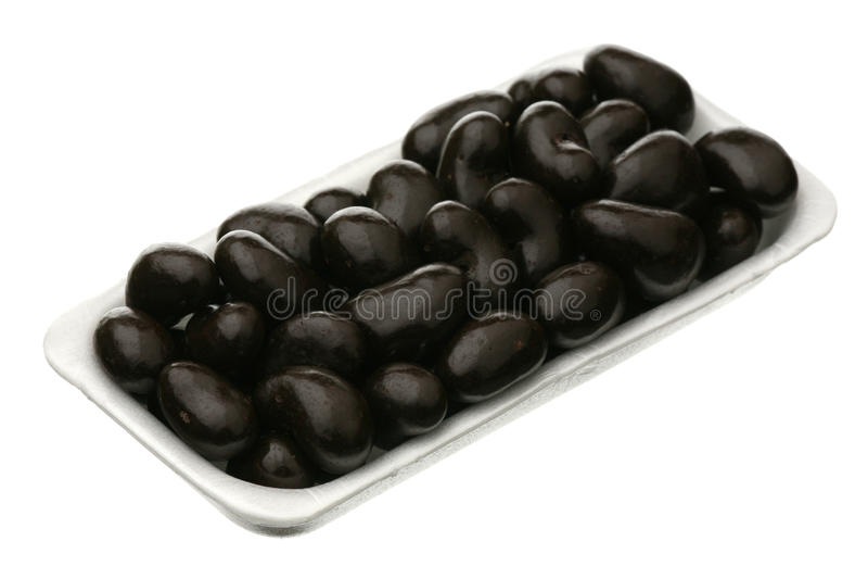 Caju no esmalte do chocolate fotos de stock
