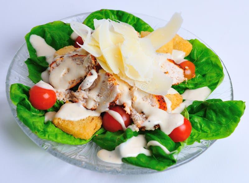 Cajun chicken caesar salad stock photo