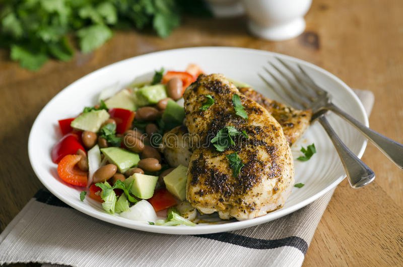Cajun chicken royalty free stock images