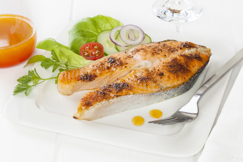 Cajun Salmon stock image
