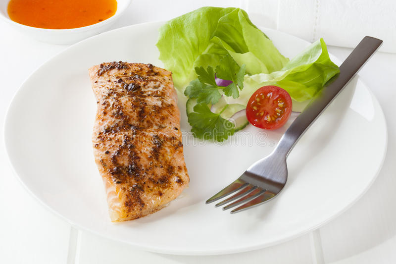 Download Cajun Salmon stock image. Image of meal, nobody, lettuce - 25551745