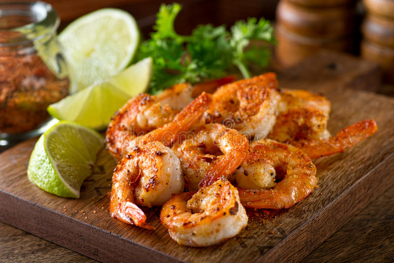 Cajun Shrimp stock image