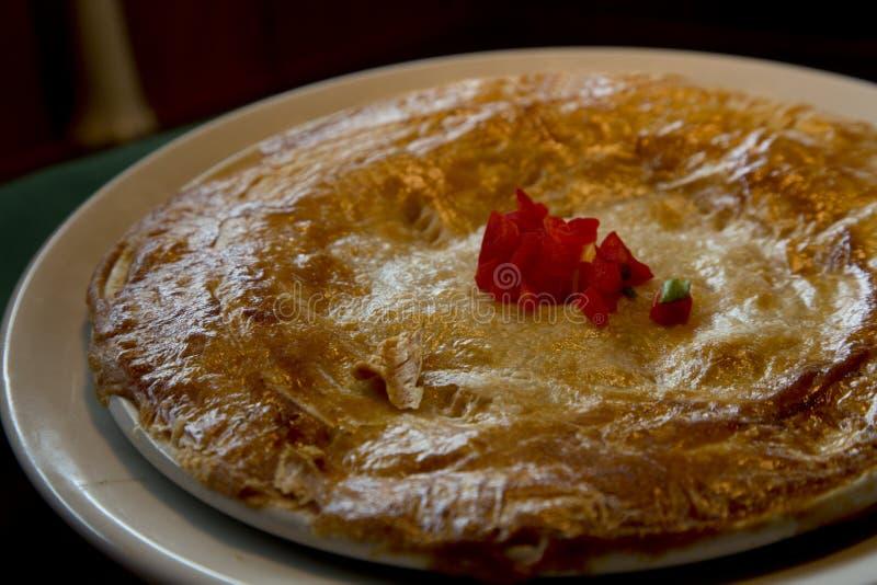 Cajun Style Crawfish Pot Pie with Handmade Crust stock photos
