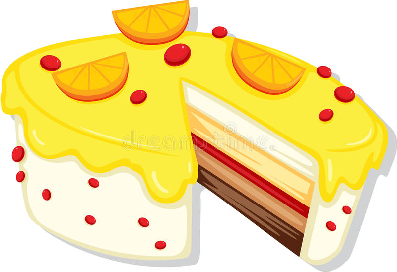 Cake stock illustration