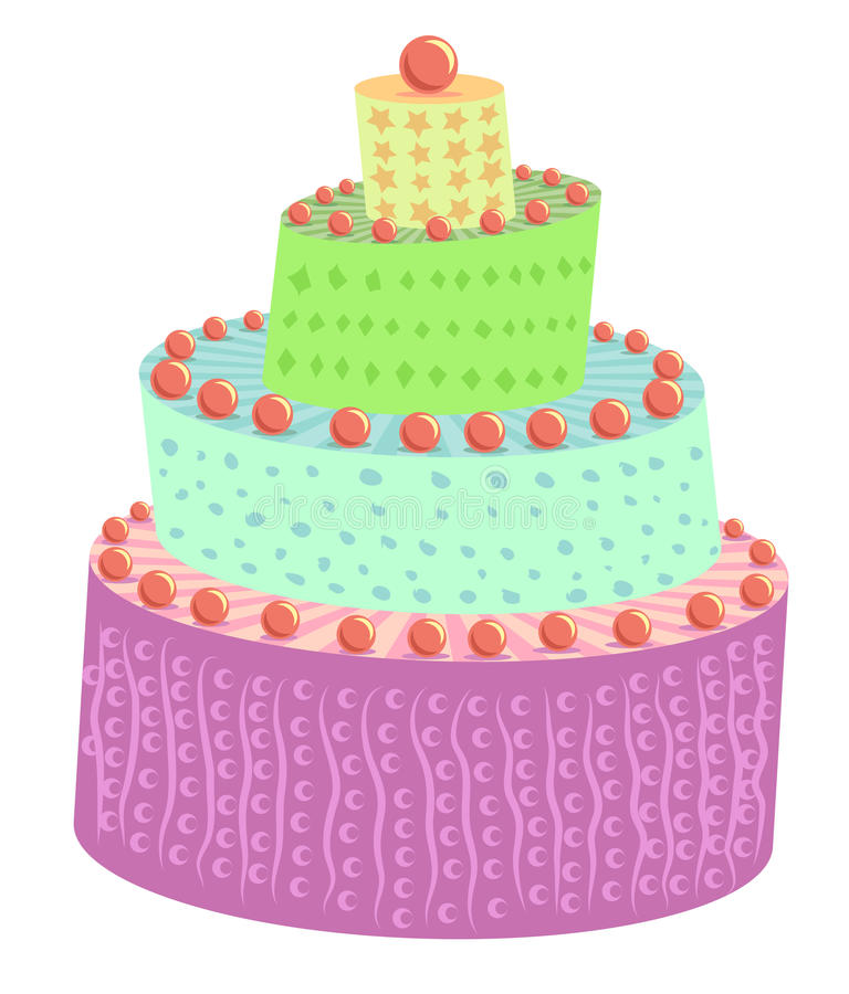 Download Cake stock illustration. Illustration of eps10, cream - 25743368