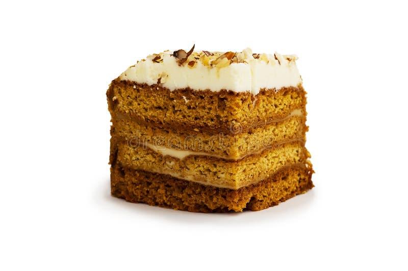 Cake with almond stock photos