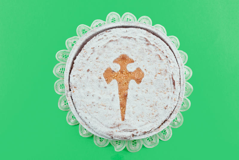 Cake av Santiago royaltyfri bild