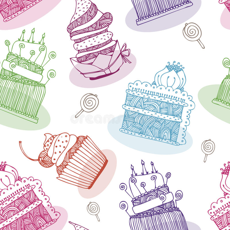 A Sugar Free Label With A Delicious Cupcake Stock Vector