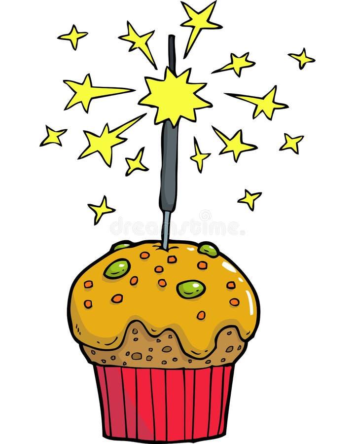 Cake bengal fire stock illustration