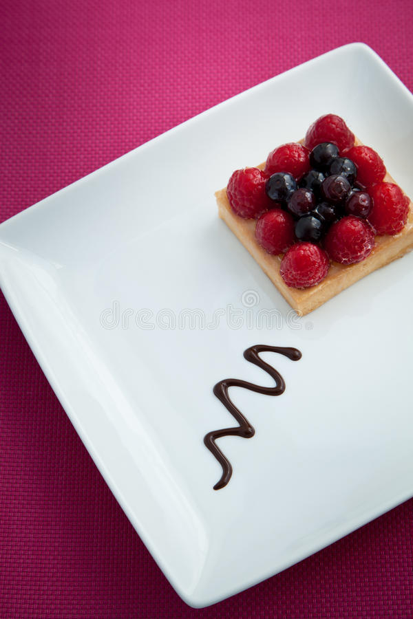 Cake with Berries royalty free stock images
