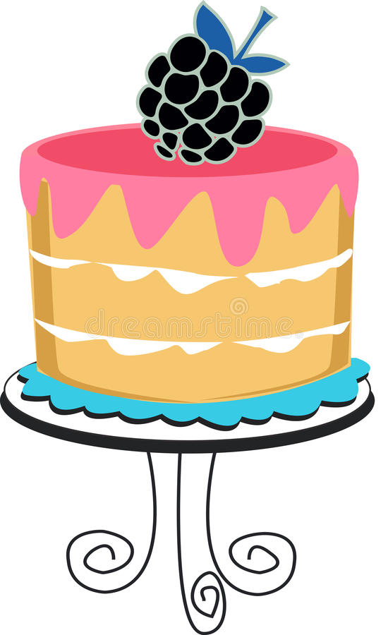 Cake with Berry. Fancy Cake with Berry and icing royalty free illustration