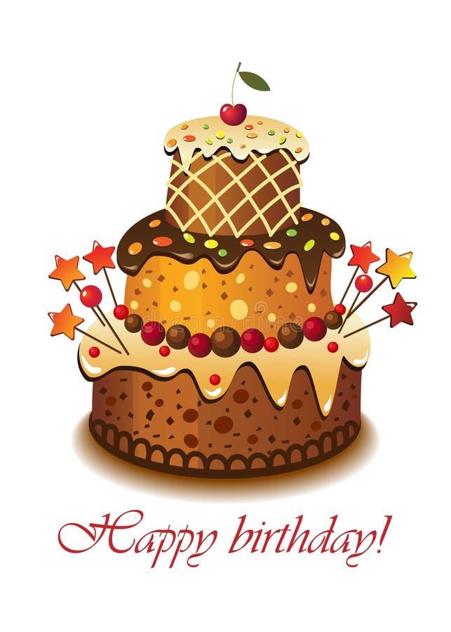 cake birthday02 vektor illustrationer