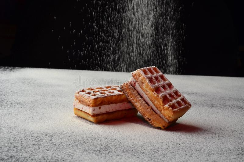 Cake biscuit tasty healthy sweet to tea Breakfast dessert royalty free stock photo
