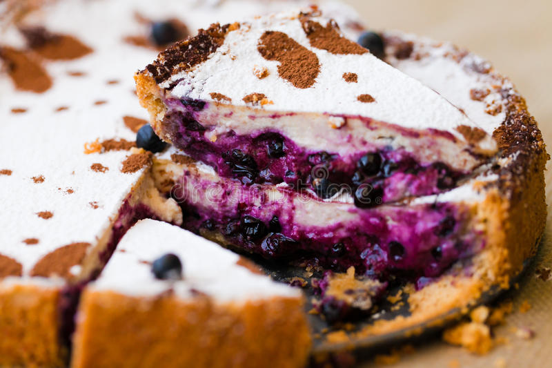 Download Cake with blueberry stock photo. Image of dinner, closeup - 29600930