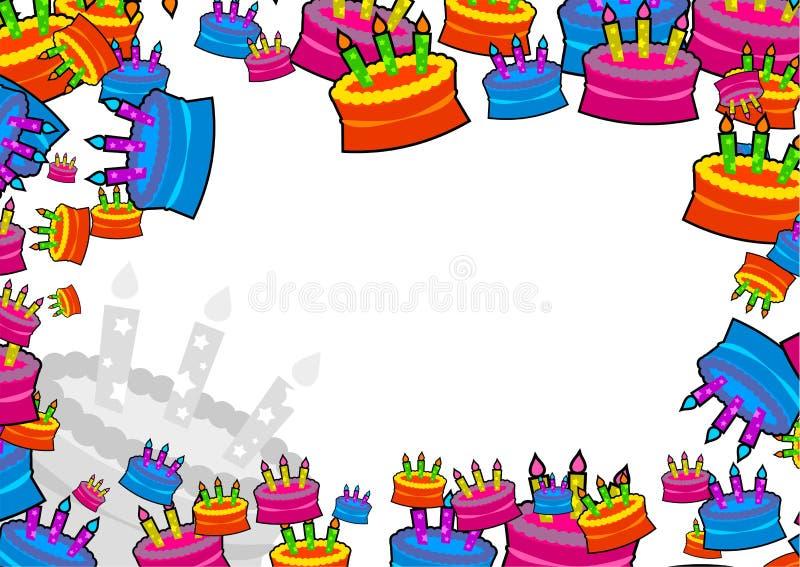 Cake border royalty free illustration