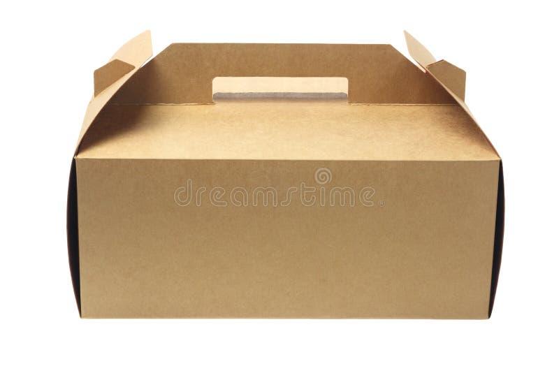 Cake Box. Takeaway Cake Box On White Background stock photo