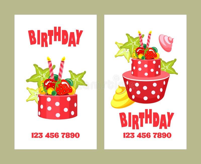 Cake business card stock vector. Illustration of brochure - 86536666