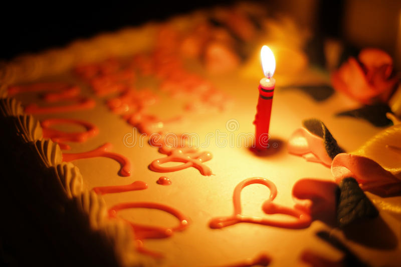 Cake candle stock images