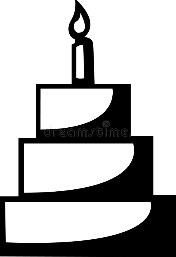Download Cake With Candle Vector Illustration Stock Images - Image: 1711884
