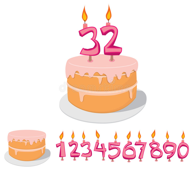 Download Cake with Candles Set stock vector. Illustration of candle - 5551662