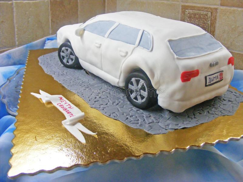 Cake car fondant 3D stock images