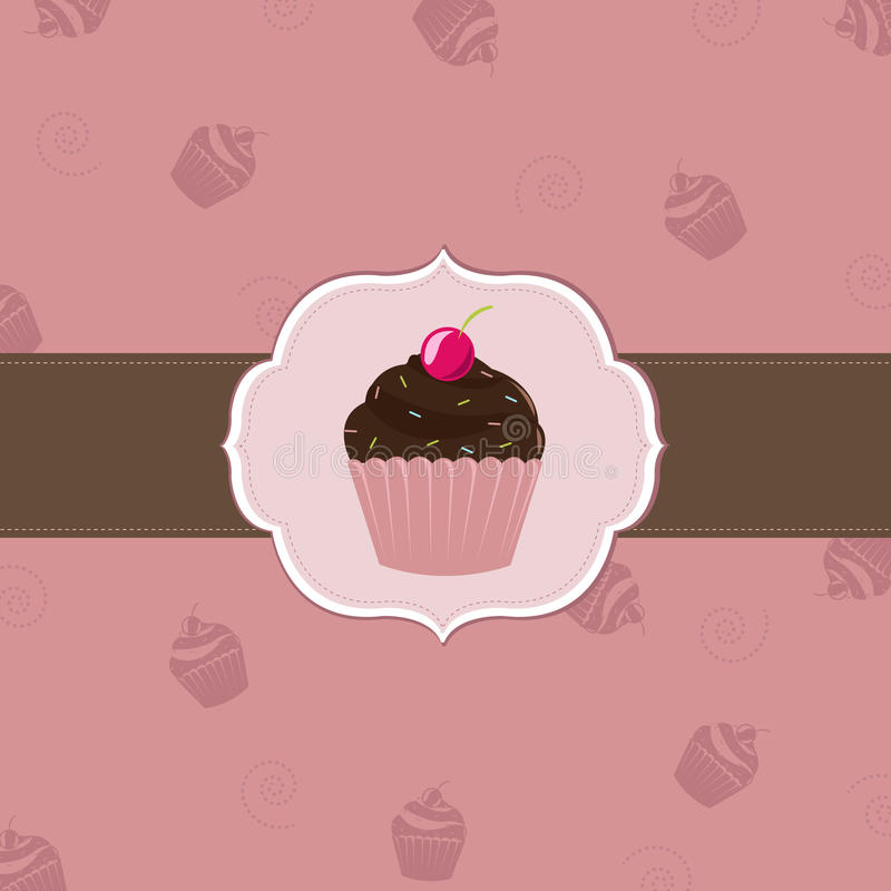 Cake Cards Template royalty free illustration