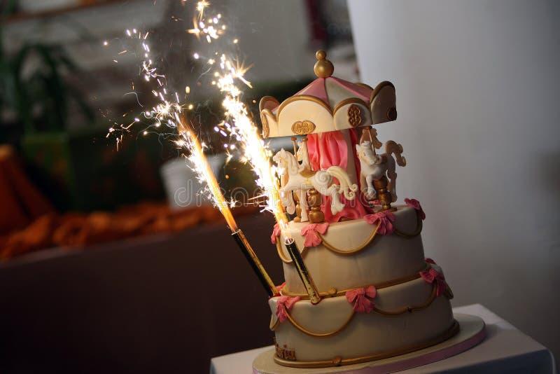 Cake carousel royalty free stock images