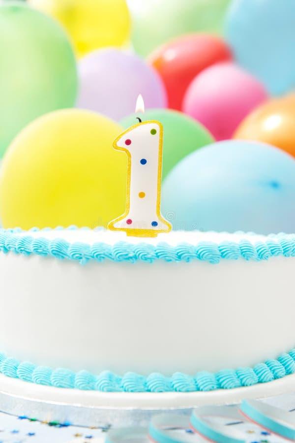Cake Celebrating 1st Birthday stock photo