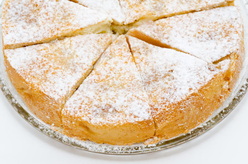 cake charlotte royaltyfri foto