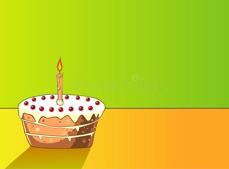 Download Cake with cherries stock vector. Illustration of delicious - 9773641