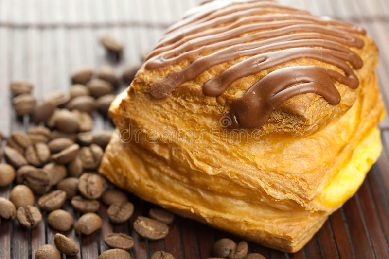 Download Cake With Chocolate And Coffee Beans Stock Photo - Image: 17507164