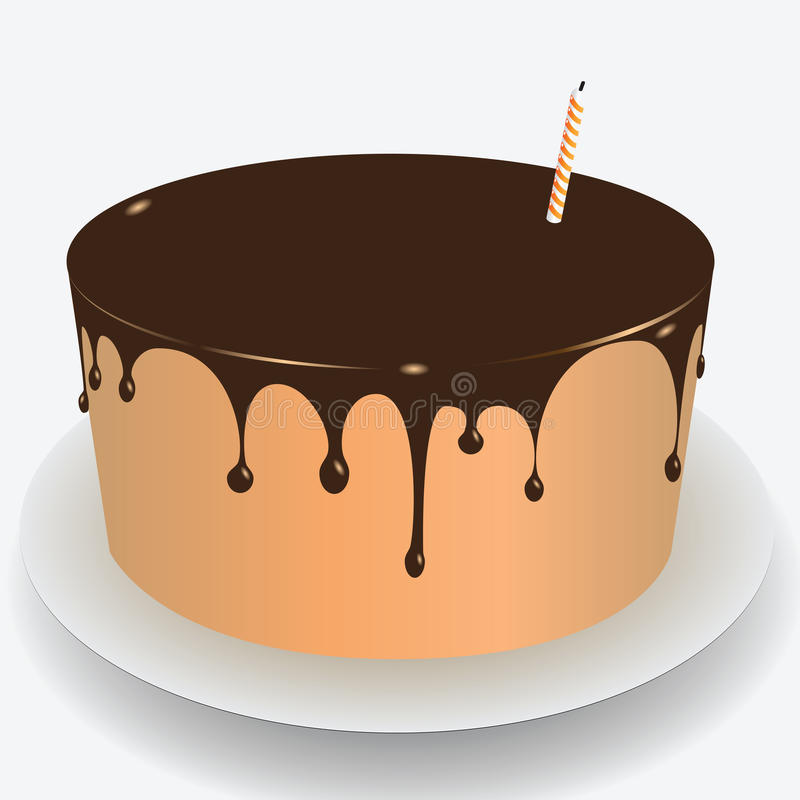 Cake Chocolate Icing Royalty Free Stock Photos