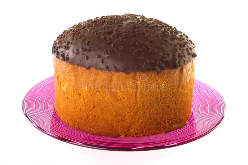 Cake With Chocolate Topping Royalty Free Stock Photography